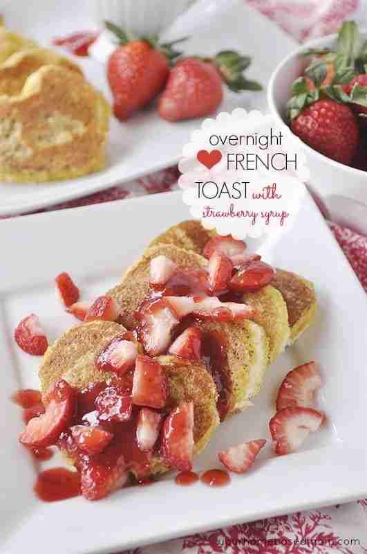 Overnight Heart Shaped French Toast