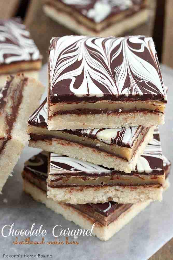 chocolate-caramel-shortbread-cookie-bars