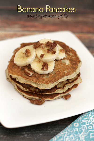 Banana Pancakes- These thin banana pancakes are sweet enough to forgo the syrup, just top with banana slices and chopped pecans and you're good to go!