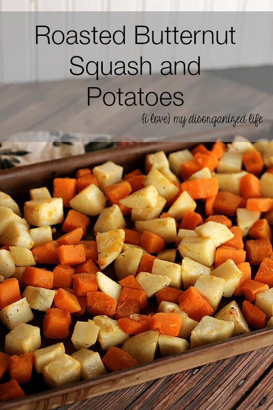 Roasted Butternut Squash and Potatoes #squash #thyme #roastedpotatoes