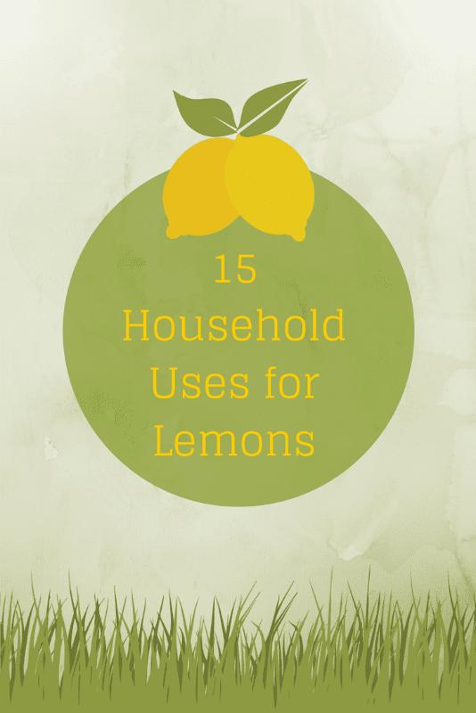 15 Uses for Lemons #lemons #lemonuses