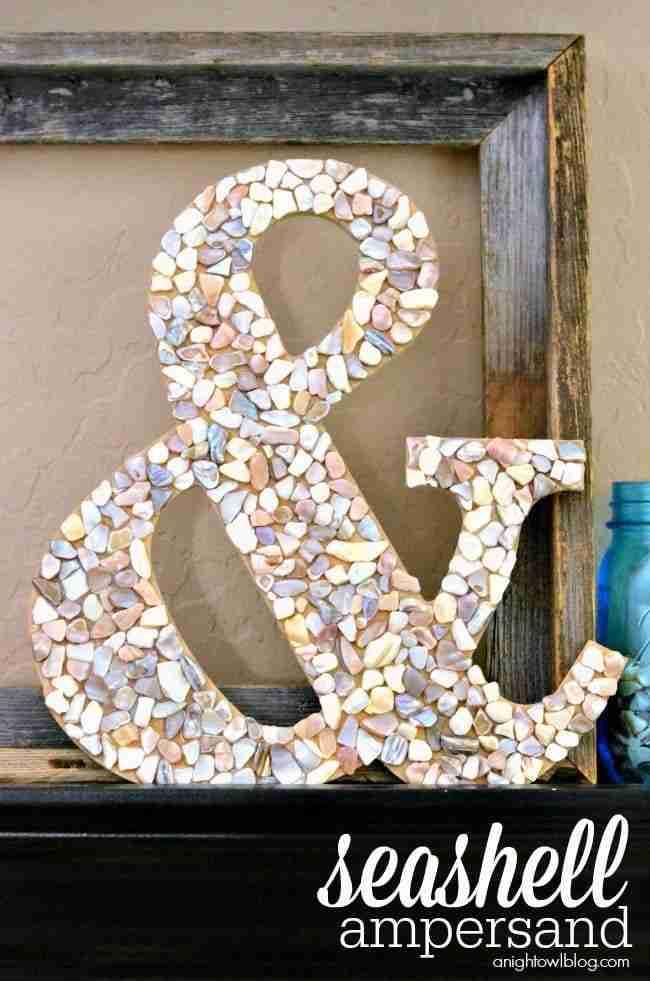 DIY-Seashell-Ampersand