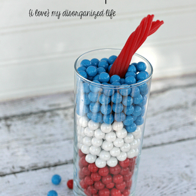 Easy 4th of July Centerpiece for fun entertaining #4thofJuly