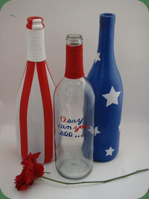 USA wine bottles