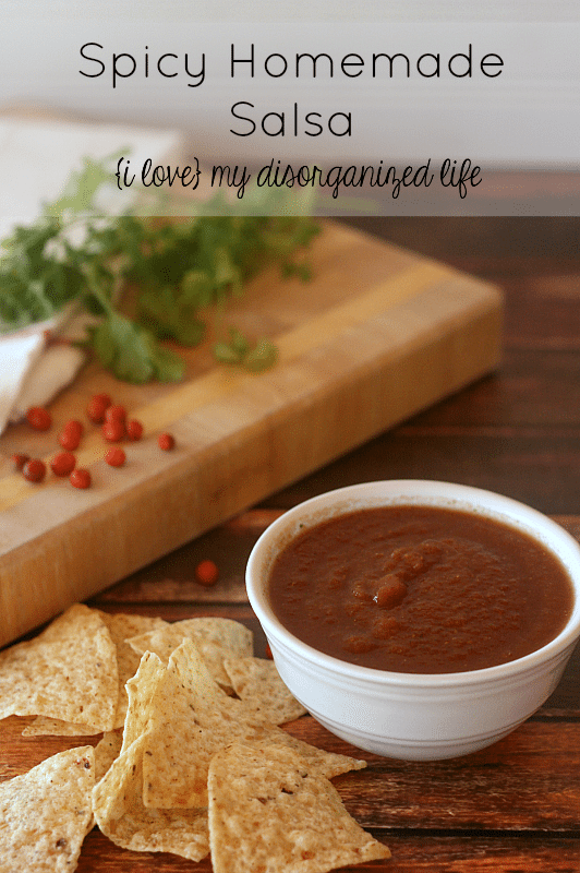 Spicy Homemade Salsa- the perfect 'kick' for your chips, tacos, burritos and more!