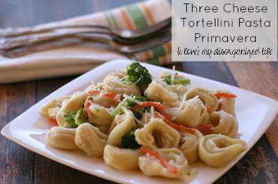 Three Cheese Tortellini Pasta Primavera