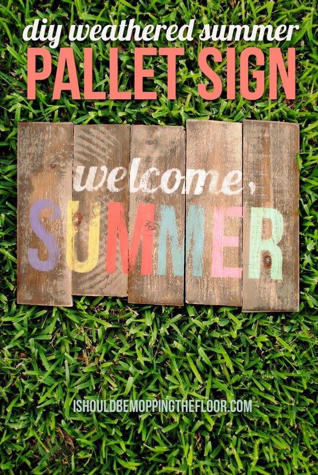weathered pallet sign
