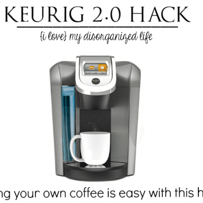 Love the new Keurig 2.0 but hate that you can no longer use your own coffee? Get around it with this Keurig 2.0 hack! Works like a charm!
