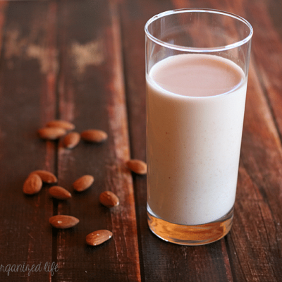 Homemade Almond Milk- just 2 ingredients and so much healthier for you!