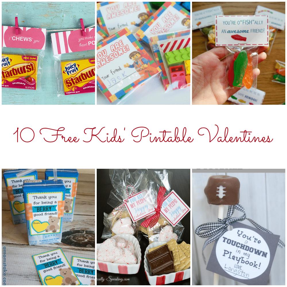 10 free kids u0027 printable valentines