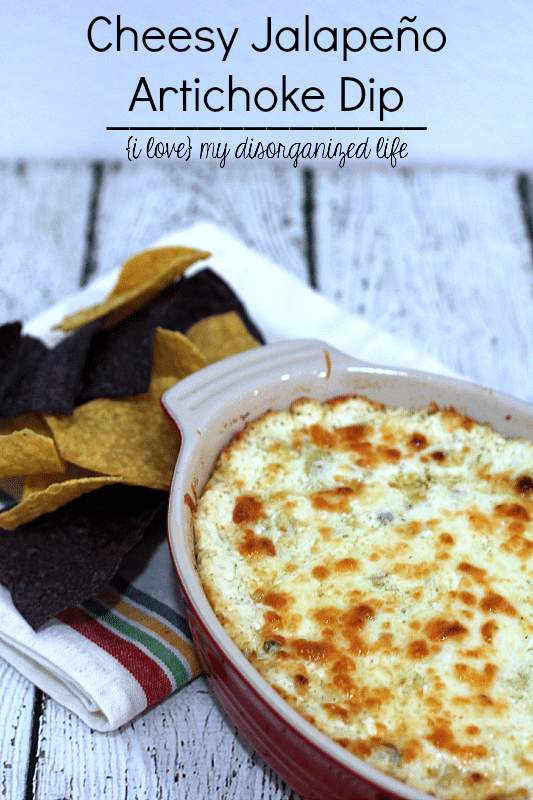 This jalapeño artichoke dip is so cheesy and full of flavor, you won't believe your tastebuds!