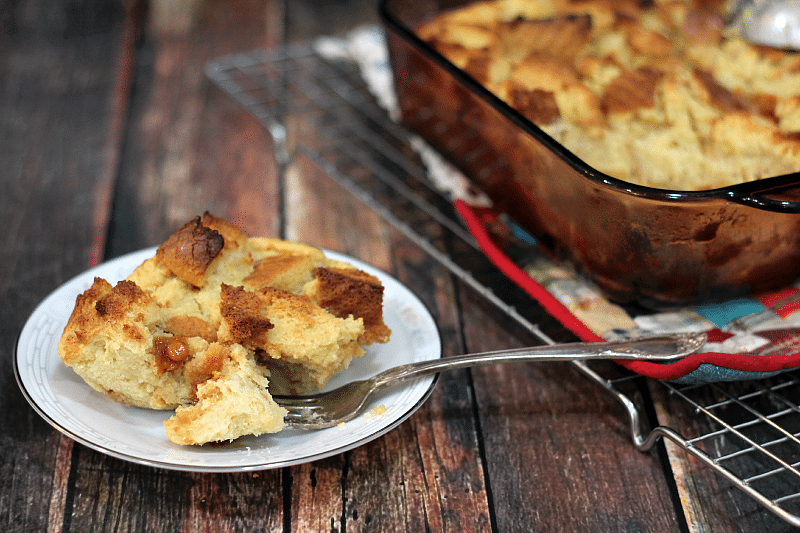Rich and gooey, this bread pudding is packed with sweet caramel flavor. Don't forget the coffee!
