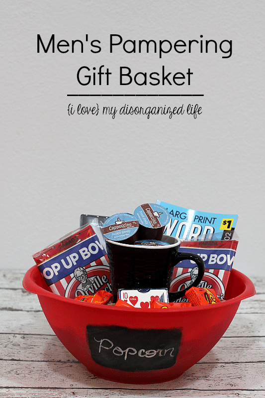 Create a pampering gift basket to thank the man in your life for all that you appreciate about him.