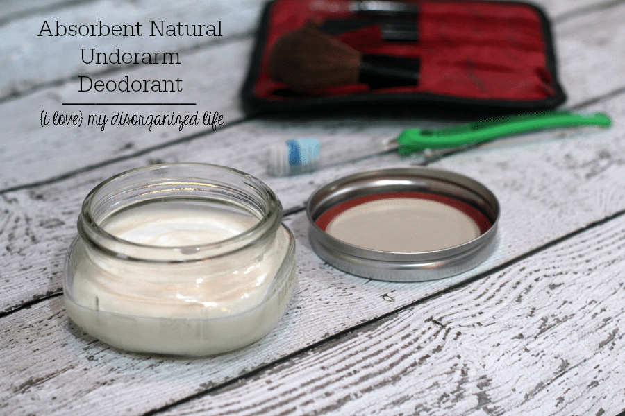 Made with all natural ingredients and lavender and tea tree essential oils, this natural underarm deodorant is a great alternative to commercial products laden with aluminum.