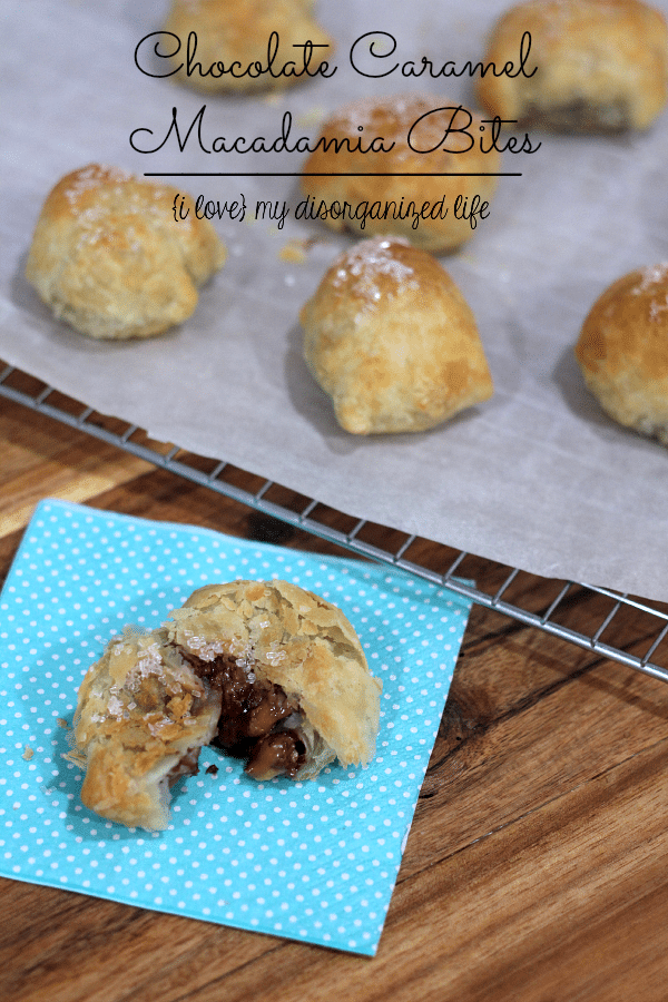 Macadamian nuts covered in heavenly chocolate and salted caramel, all wrapped up in a neat little pastry bundle.