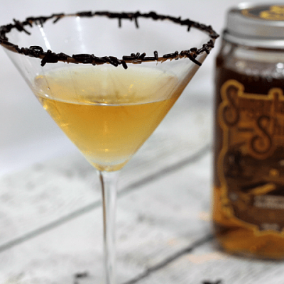 A good dessert martini is hard to come by. The perfect combination of butterscotch moonshine and chocolate liqueur come together to create a rich buttery flavor with the slightest hint of creamy chocolate!