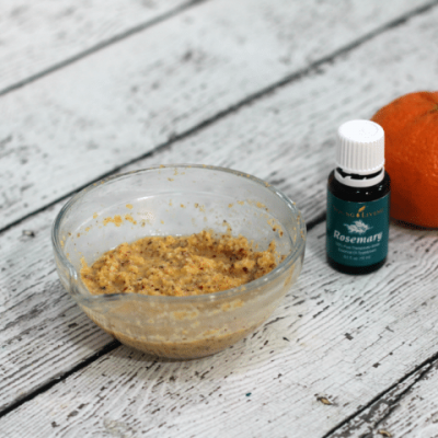 This all natural exfoliating scrub works wonders on dull, dry skin, making it bright and moisturized!