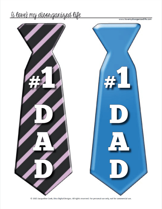 Fathers Day Tie Printable Top Gifts Or Make A Fun Banner