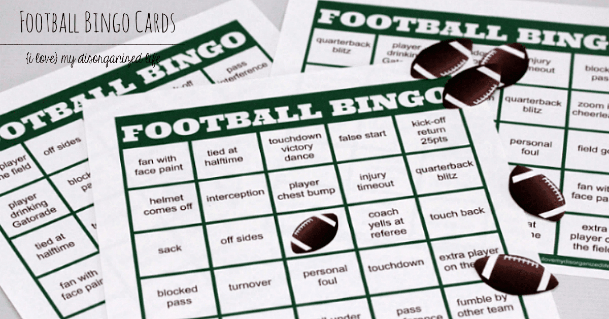 Easy football watching football bingo cards dont let a busy day keep you from your favorite sport the solutioingenieria Images