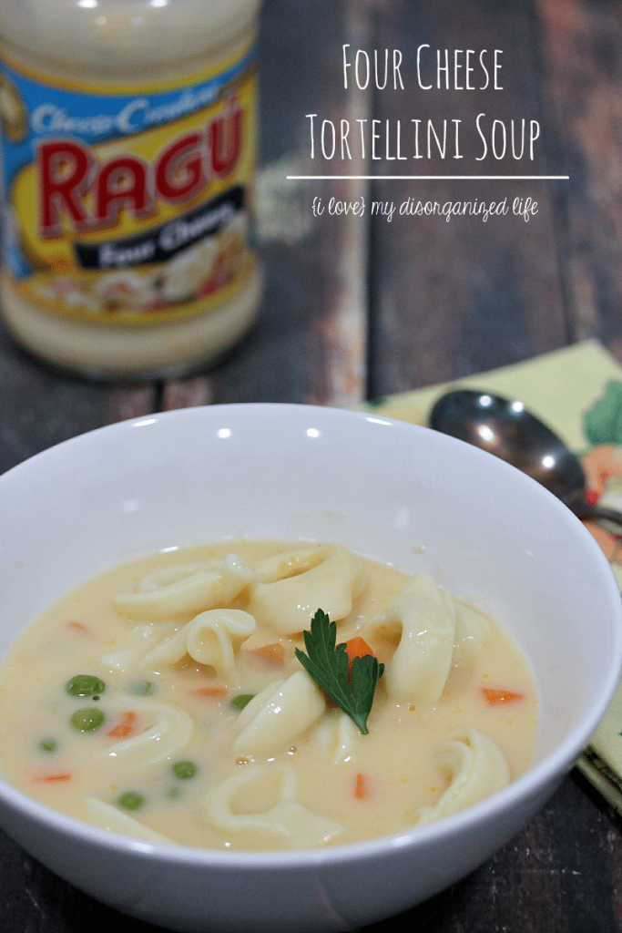 Just 4 ingredients makes this tortellini soup the perfect meal at the end of a busy day!