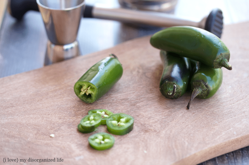 Sliced jalapeños for Lynchburg lemonade recipe