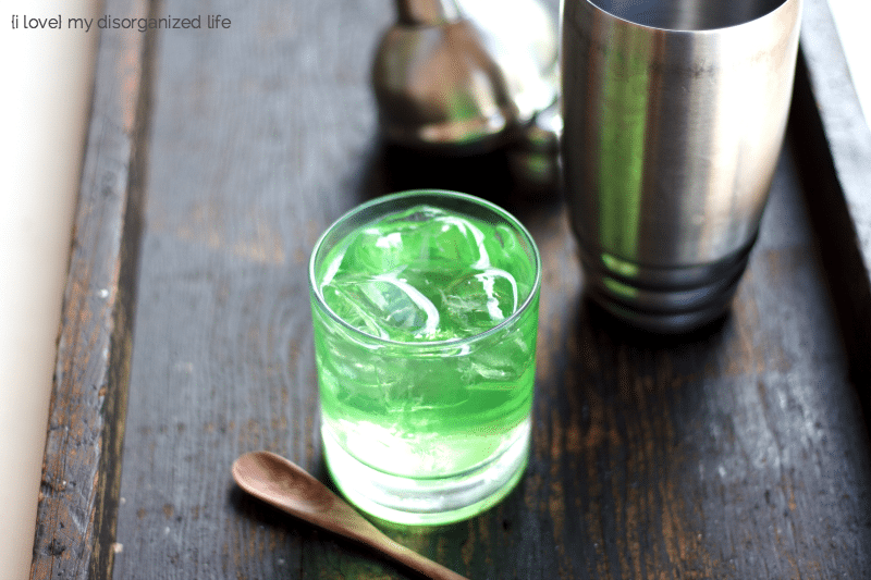 This easy green goblin cocktail is a little fruity, a little tangy, but not at all scary! Perfect for adding a little fun to your night.