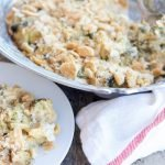 Cheesy broccoli casserole is a versatile side dish made with fresh broccoli and real cheddar cheese. Your family is sure to ask for it over and over again!