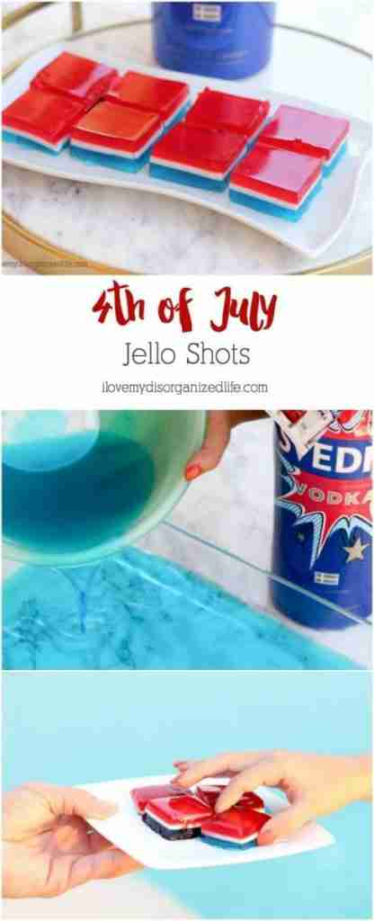 4th of July Jello shots are a fun and delicious way to celebrate summer. Make a day in advance and these portable shots are ready to travel!