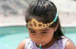 Easy Gold Glitter Crown