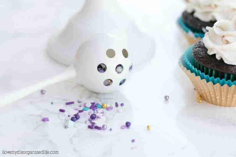 Mermaid DIY sprinkles are not only the perfect addition to any mermaid party treat, they are super easy to make!  Just a few minutes is all it takes!