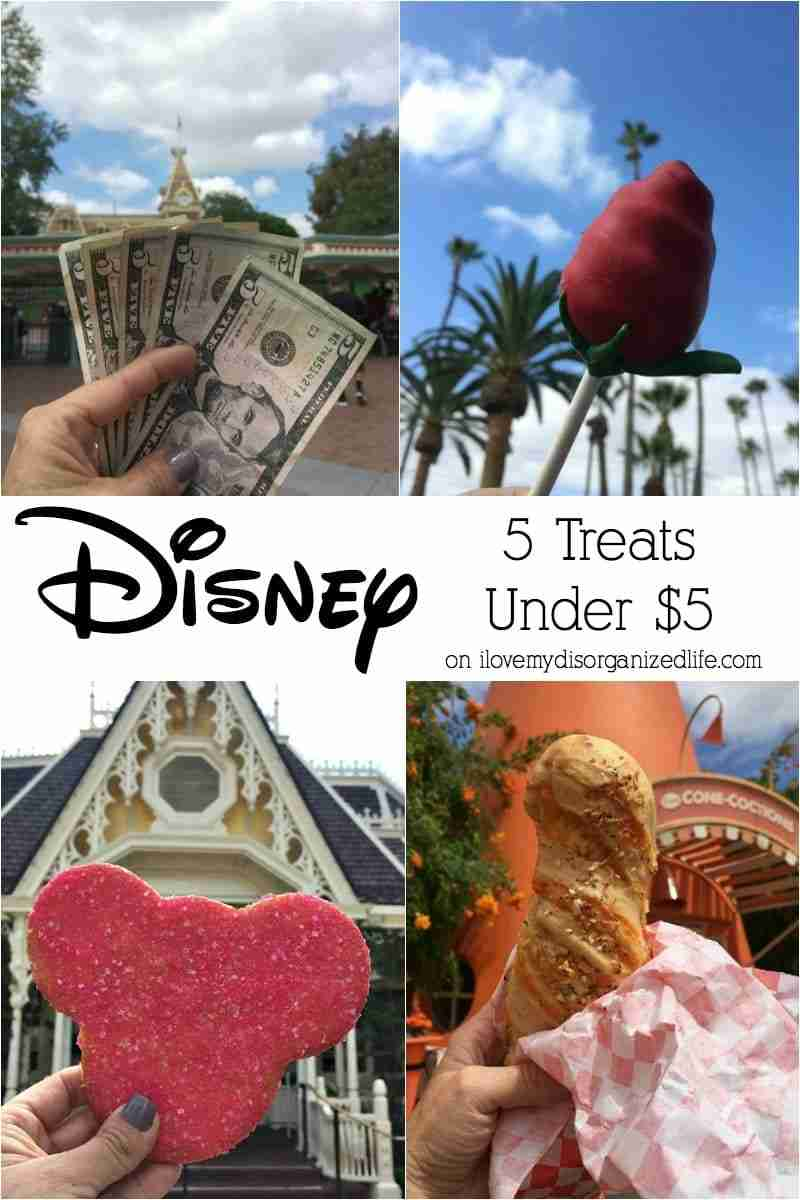 These 5 Disney treats under 5 dollars are perfect for the whole family to enjoy and won't break your bank! There's something for everyone!