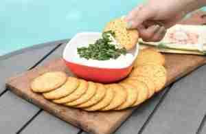 Chimichurri Cream Cheese Spread