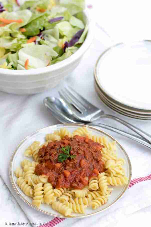 Every mom needs an easy pasta recipe for those busy back to school days, and this is it. You can have this nutritious meal on the table in just 30 minutes.