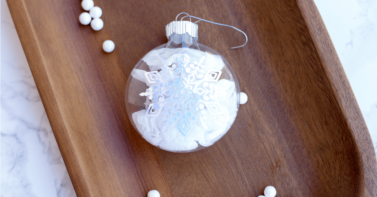 Personalized Snowflake Ornament Using Cricut I Love My