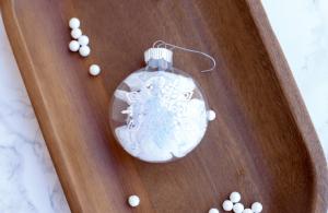 Personalized Snowflake Ornament Using Cricut
