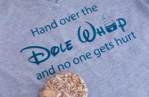 DIY Disney Dole Whip Shirt