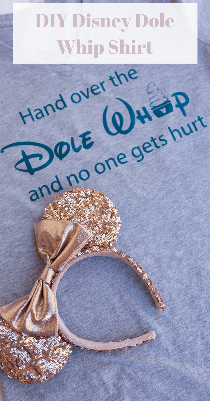 A DIY Disney Dole Whip Shirt is a quick and easy way to make a trip to a Disney park more fun. Plus, it shows of your personal style!