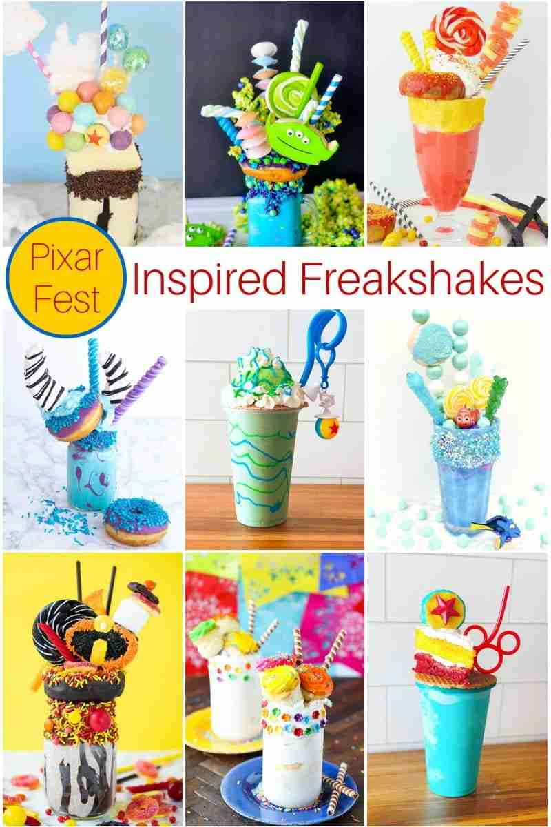 Pixar Fest inspired freakshakes you'll want to make! Including my Monsters Inc Sulley Freakshake!