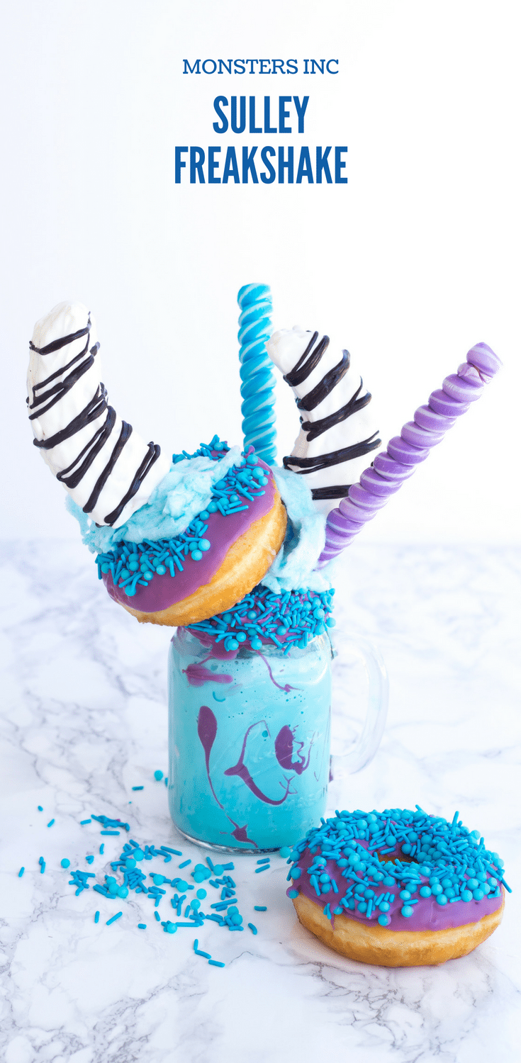This Monsters Inc Sulley Freakshake is as tasty as it looks! Plus, I'm sharing more shakes inspired by your favorite Pixar movies. These fun, drool-worthy shakes will blow you away.