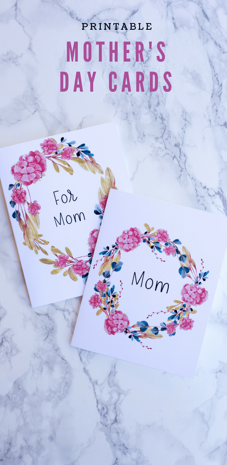 These printable Mother's Day cards are like giving mom flowers that never die! With beautiful flowers on the outside and your personal sentiment on the inside, mom's heart is sure to melt!