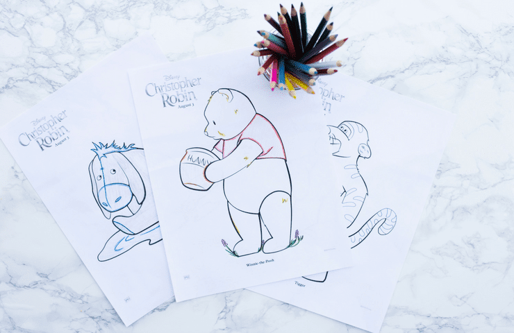 Christopher Robin Coloring Pages My Disorganized Life