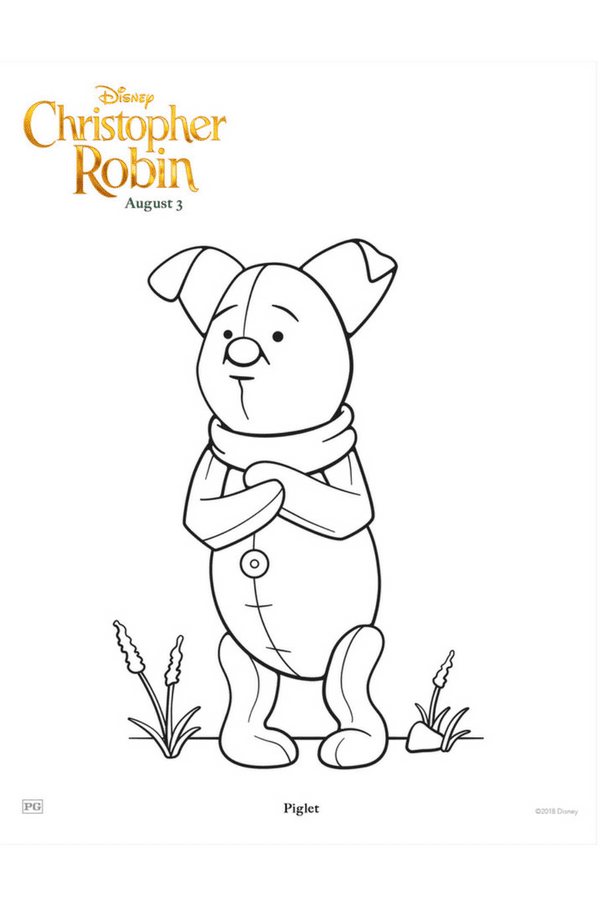 Christopher Robin coloring pages - Piglet