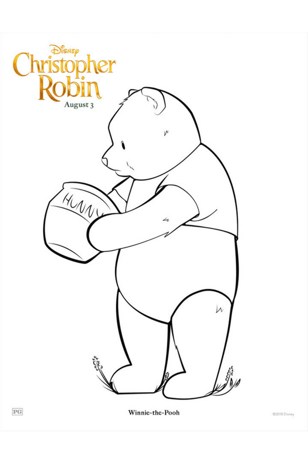 Christopher Robin coloring pages - Winnie the Pooh