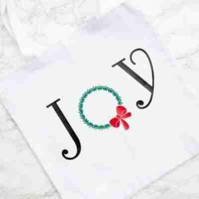 Joy Tote Bag Christmas craft