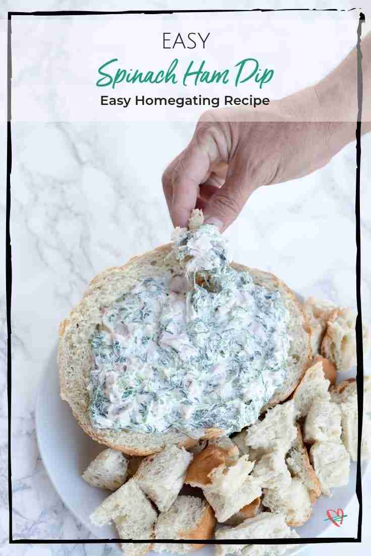 This easy spinach ham dip is perfect for all your parties. Plus, no baking requirements means you can have it on the table that much sooner! It's the easiest and fastest spinach dip out there!