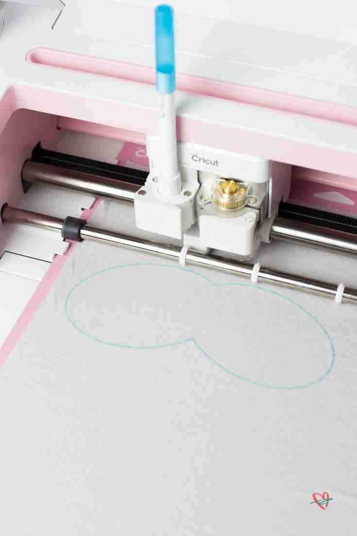 Maker drawing sew-lines for sleep mask