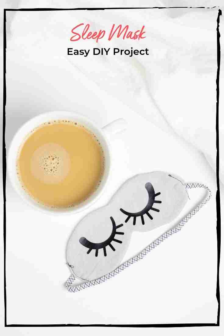 This easy DIY sleep mask is the perfect beginner's project. It requires minimal sewing and no cutting. How much easier can it get?